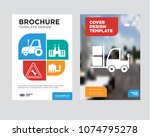 truck brochure flyer design... | Shutterstock .eps vector #1074795278