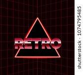 future retro line background of ... | Shutterstock .eps vector #1074795485