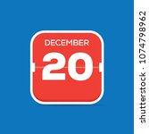 december 20 calendar flat icon