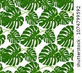 tropical pattern palm summer...   Shutterstock .eps vector #1074799592