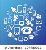 communication icons set  vector | Shutterstock .eps vector #107480012