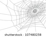 isolated spider web or cobweb... | Shutterstock .eps vector #107480258