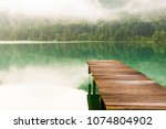 Jetty At Lake Walchensee In Th...