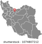 iran map vector outline... | Shutterstock .eps vector #1074807212