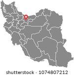 iran map vector outline... | Shutterstock .eps vector #1074807212