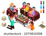 adults leisure  board games... | Shutterstock .eps vector #1074810308