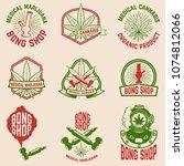 set of vintage emblems with... | Shutterstock .eps vector #1074812066