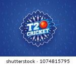 t20 cricket text on blue...   Shutterstock .eps vector #1074815795