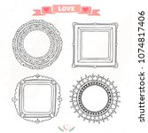decorative set template photo... | Shutterstock .eps vector #1074817406