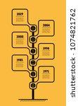 vertical timeline infographics. ...   Shutterstock .eps vector #1074821762