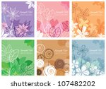 floral background collection | Shutterstock .eps vector #107482202