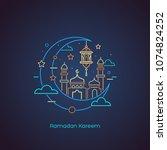 ramadan kareem. islamic... | Shutterstock .eps vector #1074824252