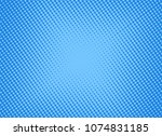 retro comic blue background... | Shutterstock .eps vector #1074831185