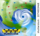 storm hurricane tornado map...   Shutterstock .eps vector #1074833468