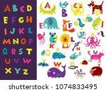 children toddlers preschoolers... | Shutterstock .eps vector #1074833495