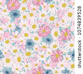 floral seamless pattern with... | Shutterstock .eps vector #1074839528