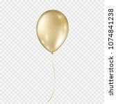 balloon isolated on transparent ... | Shutterstock .eps vector #1074841238