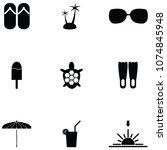 summer icon set | Shutterstock .eps vector #1074845948