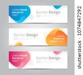 vector abstract design banner... | Shutterstock .eps vector #1074847292