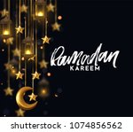 ramadan kareem. background... | Shutterstock .eps vector #1074856562