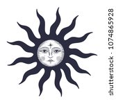 the face of the sun and the... | Shutterstock .eps vector #1074865928