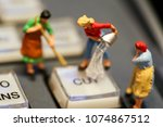 miniature people   maid or... | Shutterstock . vector #1074867512