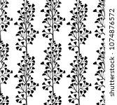 floral seamless pattern. black... | Shutterstock .eps vector #1074876572