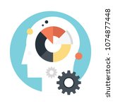 flat icon design of cognitive... | Shutterstock .eps vector #1074877448