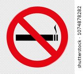 no smoking prohibiting sign  ... | Shutterstock .eps vector #1074878282