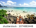 blue water of the southern gold ... | Shutterstock . vector #1074883448