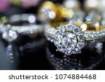 luxury jewelry diamond rings... | Shutterstock . vector #1074884468