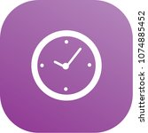 clock icon vector design | Shutterstock .eps vector #1074885452