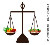 the choice. thin and fat.... | Shutterstock .eps vector #1074893585
