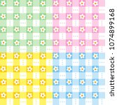 seamless pale or soft pastel... | Shutterstock .eps vector #1074899168