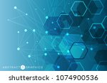 hexagonal abstract background.... | Shutterstock .eps vector #1074900536