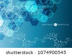 hexagonal abstract background.... | Shutterstock .eps vector #1074900545