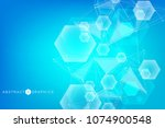 geometric abstract background... | Shutterstock .eps vector #1074900548