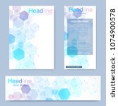 set flyer  brochure size a4... | Shutterstock .eps vector #1074900578