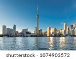 beautiful toronto skyline at... | Shutterstock . vector #1074903572