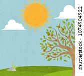 landscape vector illustration | Shutterstock .eps vector #1074904922