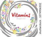 multi vitamin complex icons.... | Shutterstock .eps vector #1074906332