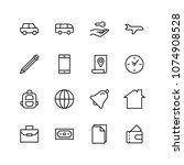 hotel flat icon set. single... | Shutterstock .eps vector #1074908528