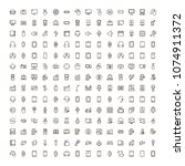 device flat icon set . single... | Shutterstock .eps vector #1074911372
