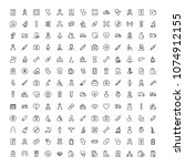 cancer icon set. collection of... | Shutterstock .eps vector #1074912155
