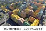 district of colorful houses in... | Shutterstock . vector #1074913955