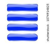 blue glass buttons. shiny... | Shutterstock .eps vector #1074914825