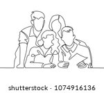 continuous line drawing of... | Shutterstock .eps vector #1074916136