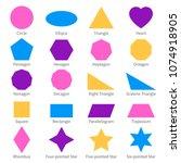 simple geometric 2d shapes.... | Shutterstock .eps vector #1074918905
