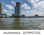 rotterdam   view to hotel new... | Shutterstock . vector #1074927152