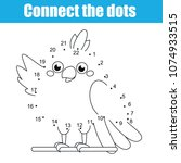 connect the dots children... | Shutterstock .eps vector #1074933515